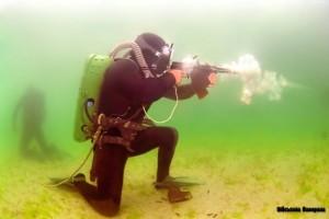 Force Recon Frogmen Underwater